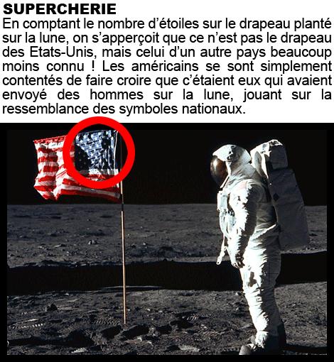 sur la lune, complot, conspiration, drapeau américain, étoile, preuve, on n'a pas marché sur la lune, photo, preuve, vole