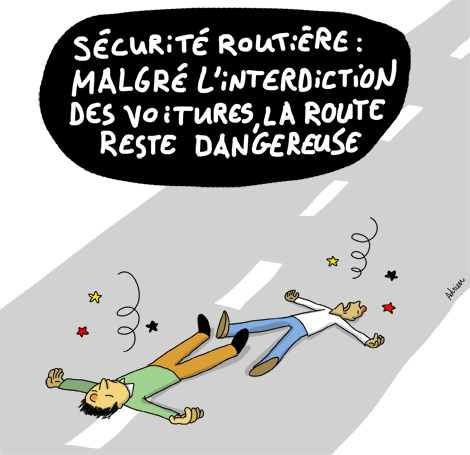 accident de la route, interdiction de la voiture, sécurité routière, danger, code