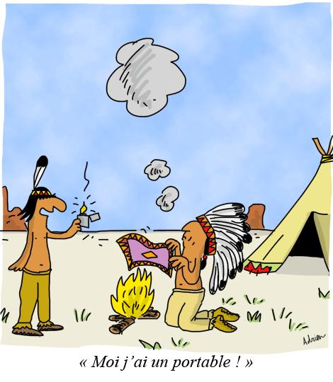 indiens d'Amérique, signaux de fumée, communication, téléphone portable, briquet